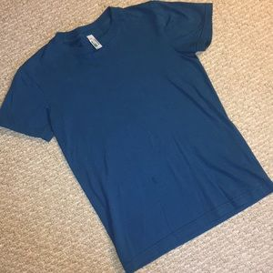 American Apparel Blue T Shirt Medium Sustainable